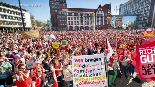 Από πρόσφατη απεργιακή πορεία στη Φρανκφούρτη.