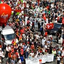 Από την έναρξη της σημερινής διαδήλωσης στην πλατεία de Bastille.
