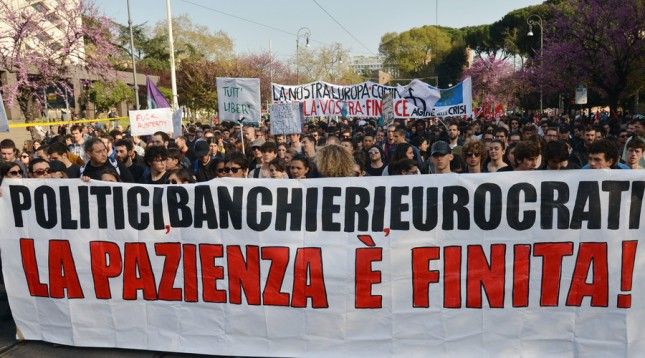anti austerity rome 201