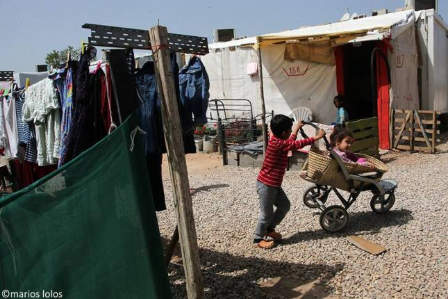Ritsona refugee camp Marios Lolos